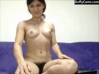 Hairy cle girl live on cam