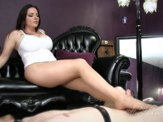 Goddess Alexandra Snow - Shiny Nylon Cock Tease | femdom | feet jenna haze foot fetish