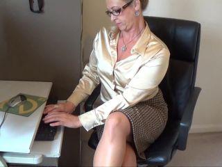 Lady Joanne - office secretary in sheer pantyhose