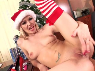 Sweet blonde babe's Christmas solo Video with Logan  12.24.2009