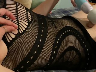 Femboy Can't Handle Using Two Vibes at Once and Shoots Cum Through Dress