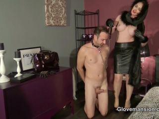 Porn online [Femdom 2018] Glove Mansion – Milked by luxury lady part 1. Starring Yasmin Scott [Handjob, Fur, Big Boobs, High Heels, Glovejob] femdom