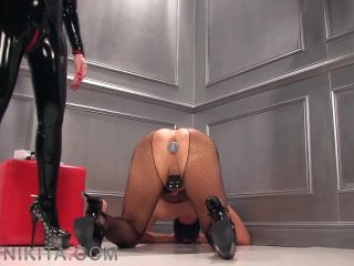 Mistress Nikita FemDom Videos   Obey Nikita  My High Heeled Electric Chair [Corporal Punishment, Whipping, Whipped, Whip]