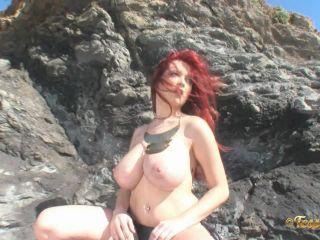 Tessa Fowler in Topless Gold 2