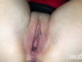 Lilys colossal dildo orgasms
