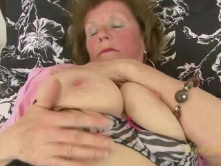 Over 60 mature model Pearl shows us her granny body and pierced pussy ...