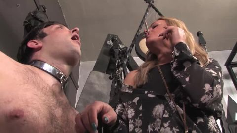 Mistress Athena starring in video (Smoking hot Mistress in jeans and boots with a open mouth) [HD 720P]
