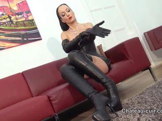 Orgasm Control – Chateau Cuir – Cum on My Burberry gloves – Fetish Liza