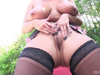 Sheridan Love Sucks Her Own Nipples As Her Pussy Is Stuffed