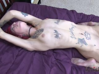 FetishPros presents 118-04-Roxy Rage-Frogtied on Bed and Teased by Krista Kaos
