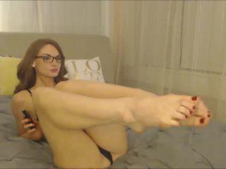 Legs – Autumns Bedroom – Foot Teasing Cherry Red Pedicure