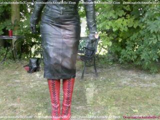 Dominatrix Annabelle - Exquisite Leather and Fur Fetish | femdomcc | masturbation