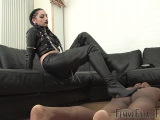 Femme Fatale Films – Cybill's Way – Complete Film. Starring Cybill Troy [boot worship, boots, cane, cbt, cock crushing, gloves, humiliation, leather, leather gloves]