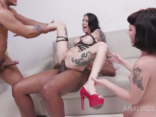 Cris Bathory, Candy Crush - Cris Bathory&Candy Crushassfucked together in 3on2 orgy with DP, DAP, Prolapse pounding and Piss Drinking YE112 [HD 720P] - Screenshot 5