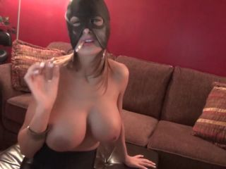 Movie title AgentSexyHot smoking fast with mask