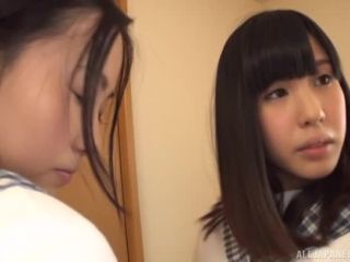 Awesome Ruru Aizawa and Risa Kataoka share a cock Video Online