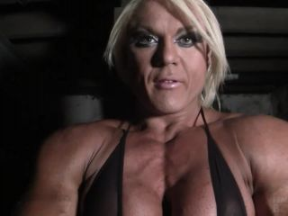 Female Muscle Porn Star Lisa Cross Makes You Worship Her Muscle