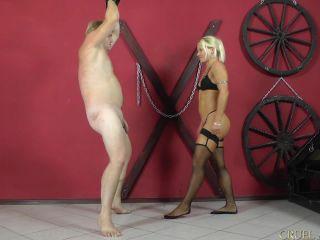 Roped – CRUEL MISTRESSES – Extra painful ballkicks Starring Mistress Zita