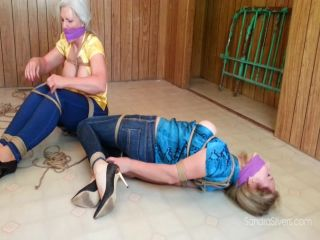 Helpless And Bound The Girls Were Caught In a Trap