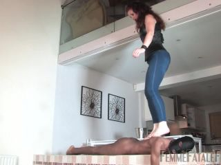 [Femdom 2018] Femme Fatale Films  Beneath Her Feet  Complete Film. Starring Mistress Lady Renee [FEMALE SUPERIORITY, FOOT TEASE, BALL STOMPING]