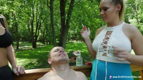 Goddess Becky, Princess Natalya - Uses Male For Human Ashtray (1080p)