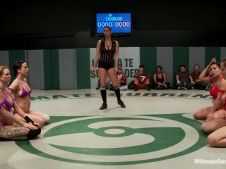 Kink_com - RD 1/4 of Feb's Live Tag Team Match: Totally non-scripted collegian style sexual lesbian wresting!