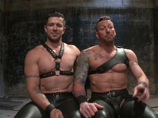 Muscled leather hunk at the mercy of Mr. Ducati - Kink  April 16, 2015