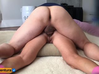 She screams, but she likes it and gets wet - Prone bone anal