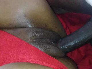 Ebony Girl with Good Tight Pussy Fucks w/Panties To The Side