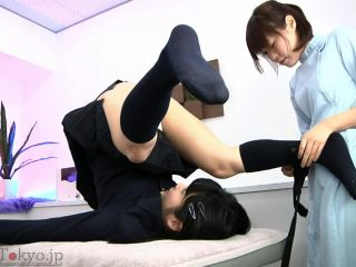 Japanese lesbians extreme dildo penetrated anal