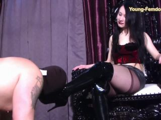 Cock Torture – YOUNG-FEMDOM- Brutal German Girls – Mona`s Slave. Staring Lady Mona