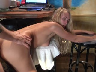 Young girl, painful anal fisting