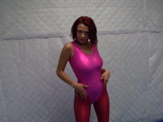 Jessica Robbin – Leotard, Shinny Legging Handjob