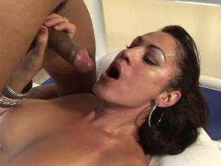 Big tits shemale deep throating dick