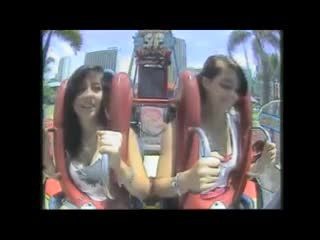 Downblouse – Big boobs tits in roller coasters compilation