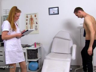 SpermHospital — Redhead doctor cougar Fabia HJ and prostate cure