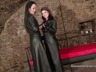 Glovemansion – Teasing you with our leather gloves part1 – Fetish Liza, POV, ffm femdom on femdom porn