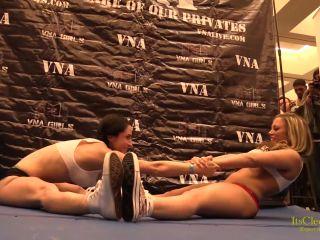 Cleo and Carmen Wrestling