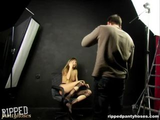 RIPPEDPANTYHOSES - rph0005a Torn pantyhose is a nice lesson Cam 1