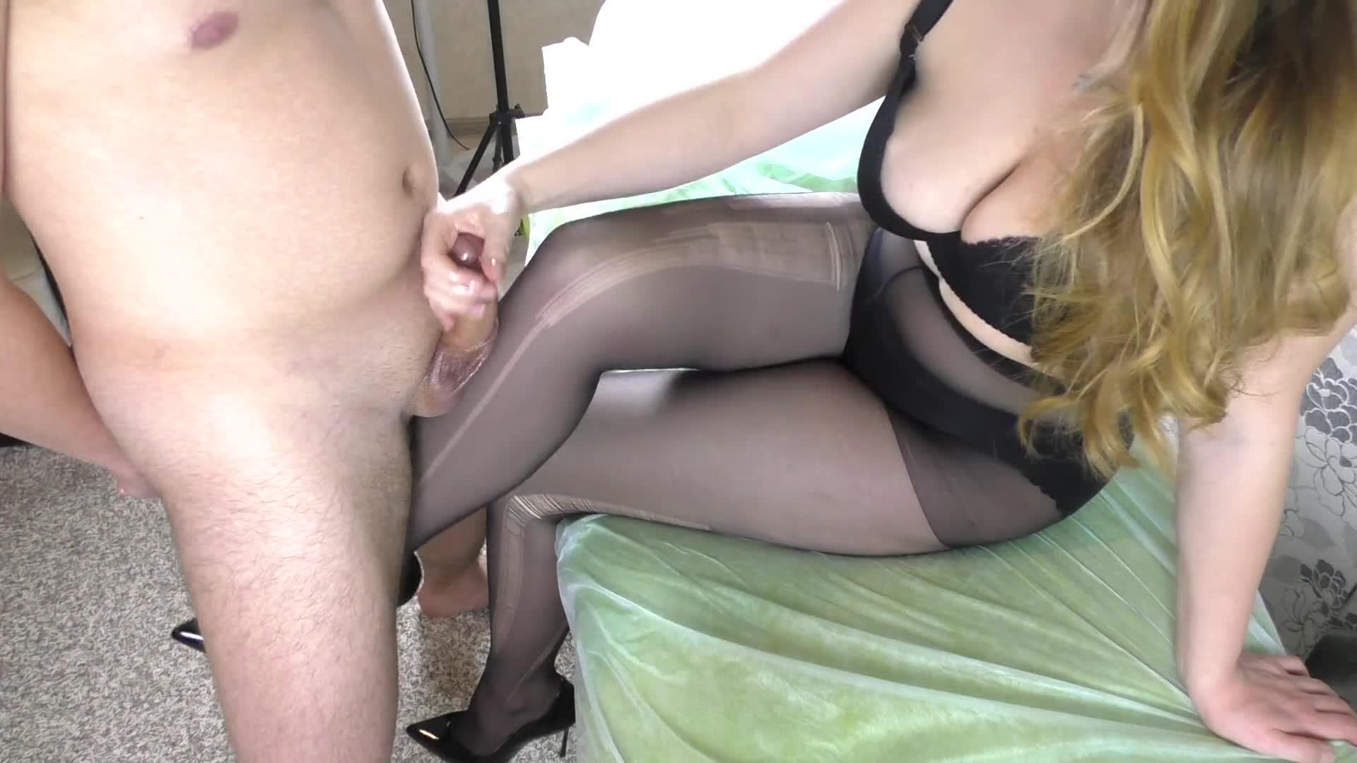 Black Pantyhose Cum