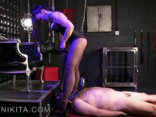 Obeynikita presents Mistress Nikita in Lucky Little Pantyhose Fucker