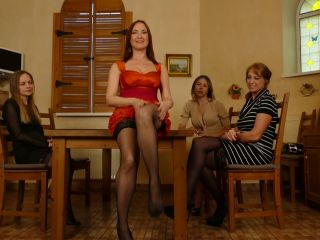 Four housewives turning a night of strippoker into a steamy lesbian gr ...