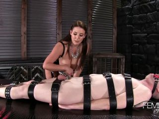 VICIOUS FEMDOM EMPIRE  Chastity Milking Eruption. Starring Mistress Angela