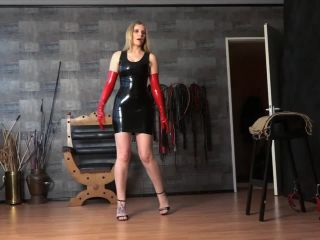 Female Domination – FEMDOM-POV-CLIPS – Caned By The Latexlady – Mistress Cloe