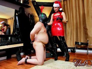 Clubdom: Raven Even Santa Cane - caning - femdom porn rough bdsm