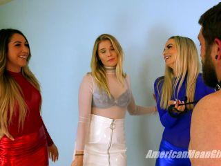 Dual Domination – The Mean Girls – American Ballbusting – Goddess Platinum, Princess Amber and Princess Sklyar
