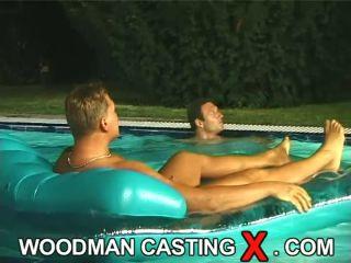 Gabriella K - BTS - swimming pool + 2 boys
