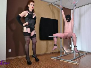 """BALLBUSTED IN THE SPREADER DEVICE"" (CBT, MILF, BALLBUSTING)"