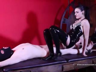 Mistress Iside  Latex Foot Gagging [Foot Gagging, Footworship, Footlicking]