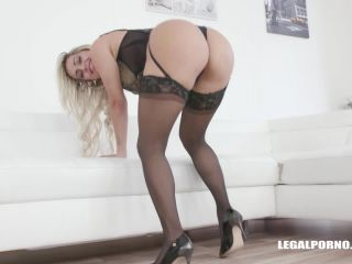 Mia Linz dirty blonde rides on a Huge Dildos